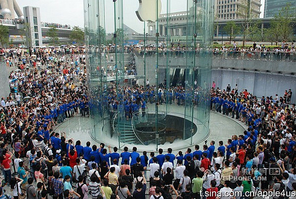 Apple Store Shanghai - Inaugurazione