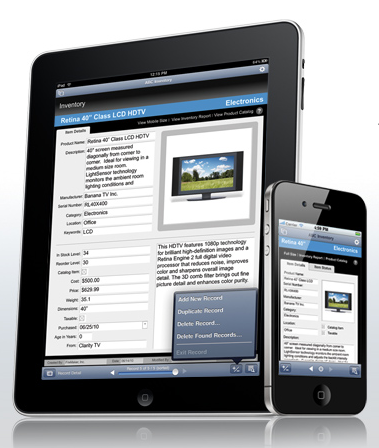 FileMaker Go per iPhone e iPad