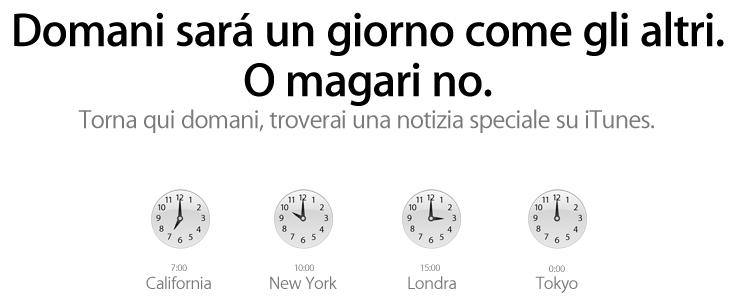iTunes - Annuncio speciale