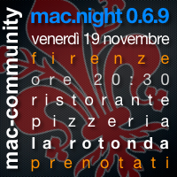 mac.night 0.6.9 - Firenze - Mac-community toscana - AMUG