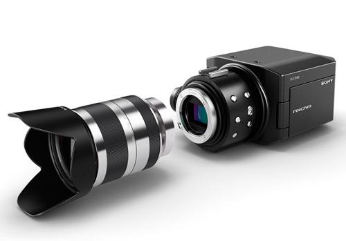 Sony NXCAM - Videocamera equivalente 35 mm con ottiche NEX intercabiabili