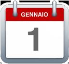 Calendario - 1 gennaio