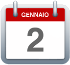 Calendario - 2 gennaio