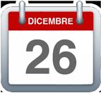 Icona Calendario - 26 dicembre