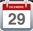 Calendario - 29 dicembre