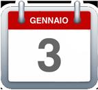 Calendario - 3 gennaio