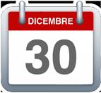 Calendario - 30 dicembre