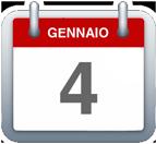 Calendario - 4 gennaio