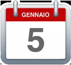 Calendario - 5 gennaio