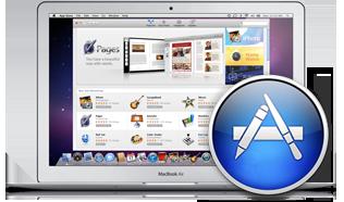 Mac App Store - Icona con sfondo MacBook Air