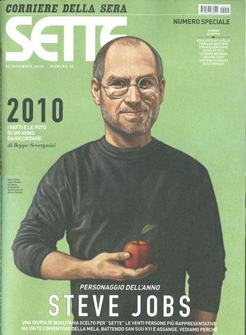 Steve Jobs in copertina su Sette, settimanale del corriere della sera