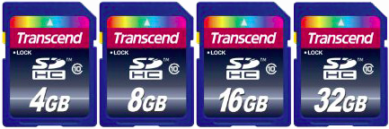Trascend SDHC Card da 4-8-16-32GB