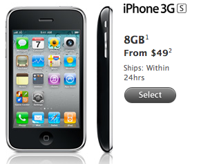 iPhone 3GS a 49$ su Apple Online Store USA