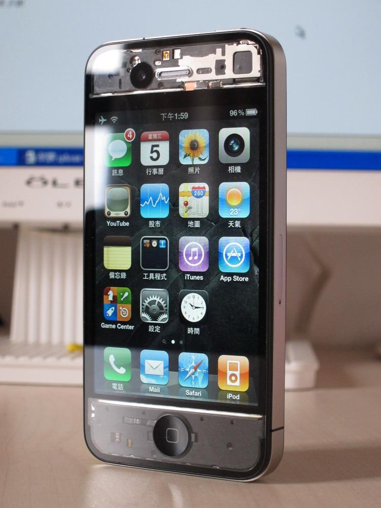 iPhone 4 con case trasparente