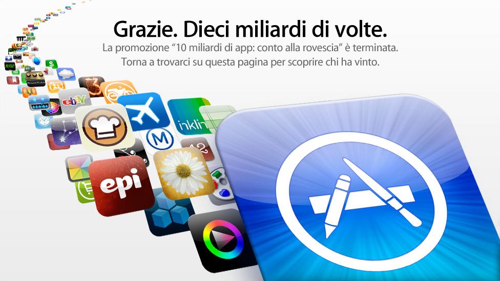 iTunes App Store - 10 miliardi di grazie