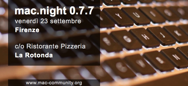 Mac.night 0.7.7 - Banner - Mac-community - Firenze - Toscana - AMUG