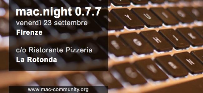 Mac.night 0.7.7 - Banner - Mac-community - Firenze - Toscana - AMUG