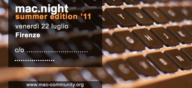 mac.night summer edition '11 - Firenze