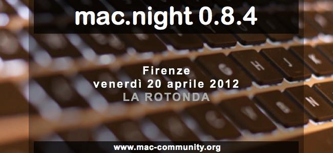 Mac.night 0.8.4 - Ritrovo mensile mac-community fiorentina e toscana - AMUG Firenze