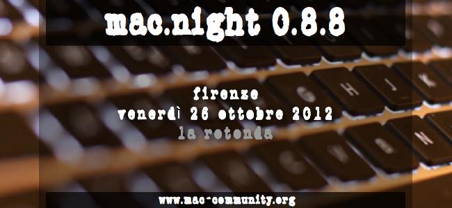 Mac.night 0.8.8 - Ritrovo della mac-community fiorentina e toscana - AMUG Firenze
