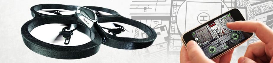 Parrot AR.Drone - Quadricottero pilotabile con l'iPhone