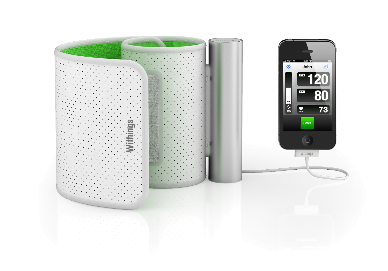 Withings - Misuratore di pressione per iPhone, iPad, iPod touch