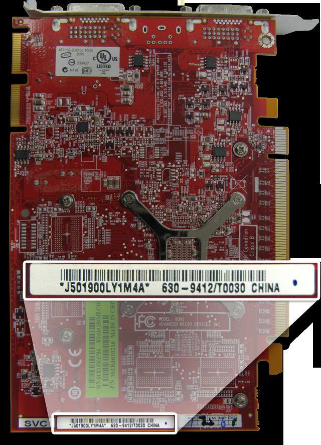 Scheda Grafica HD 2600 XT - Visualizzazione Numero di serie