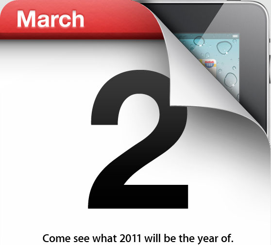 Evento Apple - 2 marzo 2011 - Come see what 2011 will be the year of