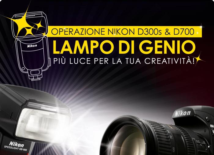 Nikon - Nital promozione Lampo di Genio - In regalo con D700 e D300s un flash SB-900