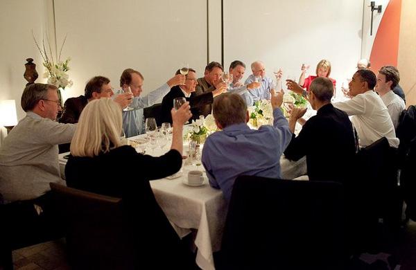 Obama incontra Steve Jobs ed altri imprenditori della Silicon Valley