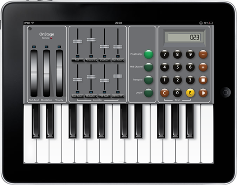 OnStage Remote di Fluqe Creative su iPad