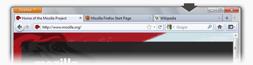 Firefox 4 - Interfaccia grafica rinnovata