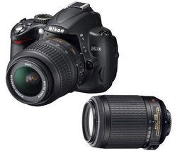 Nikon D5000 in kit con gli zoom 18-55mm e 55-200mm