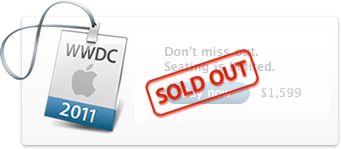 WWDC 2011 - Sold Out - Esaurito