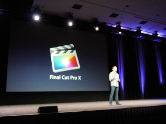 Final Cut Pro X - Sfuocato durante la presentazione al SuperMeet di Las Vegas
