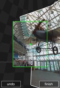 Microsoft Photosynth screenshot - Creazione foto panoramiche sull'iPhone
