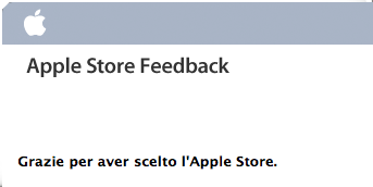 Apple Store feedback - Italiano
