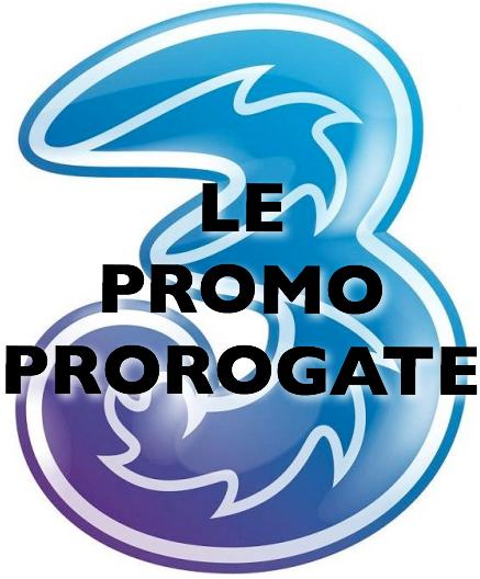 Logo 3 Italia - Promo in proroga