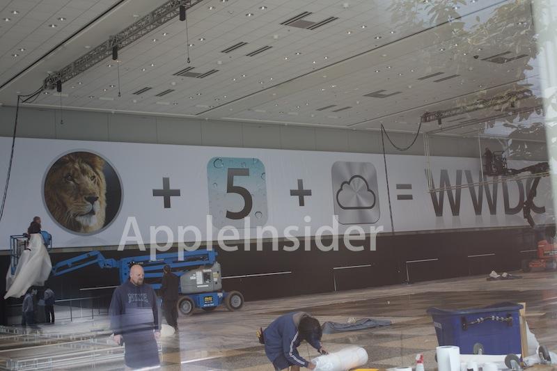 WWDC 2011 - Banner con icone di Lion, iOS 5 e iCloud