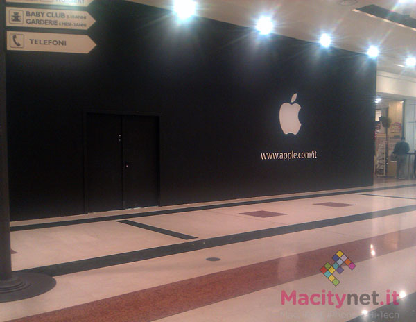 Apple Store Fiordaliso - Compare il logo Apple - Apertura imminente