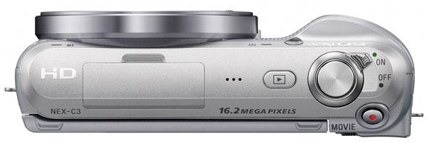 Sony ALFA NEX-C3 - Vista da sopra