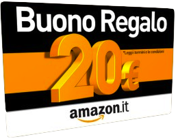 Amazon.it - Buono regalo da 20€ scontato del 50%