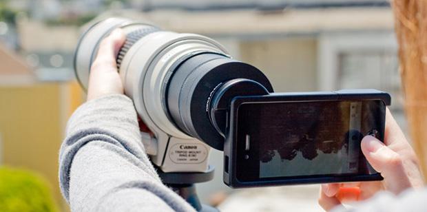 iPhone con ottica Canon serie L