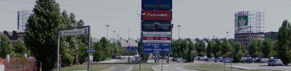 Centro Commerciale I Gigli - Ingresso al parcheggio lato Prato