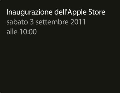 Apple Store Campania - Inaugurazione 3 settembre ?