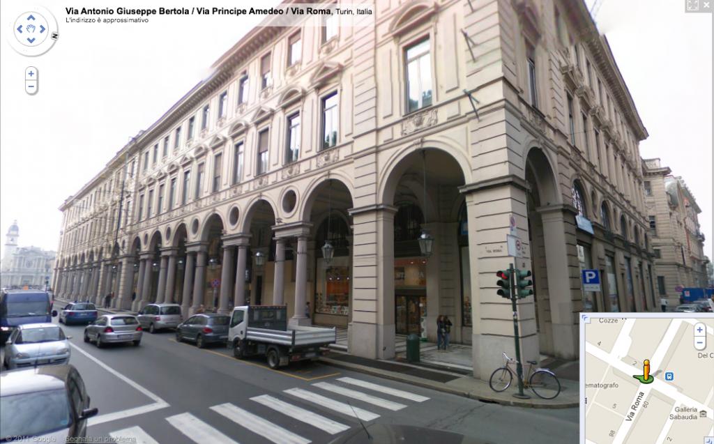 Edificio indicato come prossima location dell'Apple Store in centro a Torino