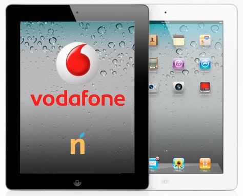 iPad 2 con logo Vodafone
