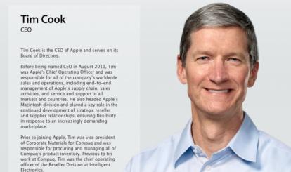Tim Cook, nuovo CEO di Apple - Profilo