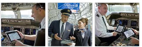 United Continental - iPad in uso