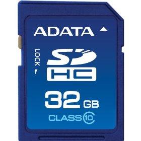 Scheda di memoria ADATA SDHC da 32GB in classe 10